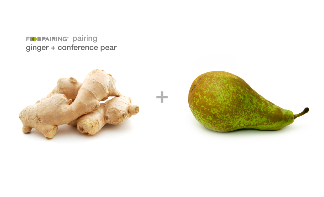 ginger and pear food pairing aroma