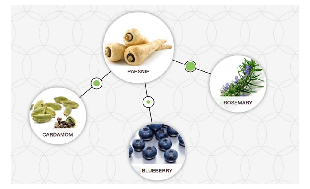 parsnip blueberry cardamom rosemary tool foodpairing