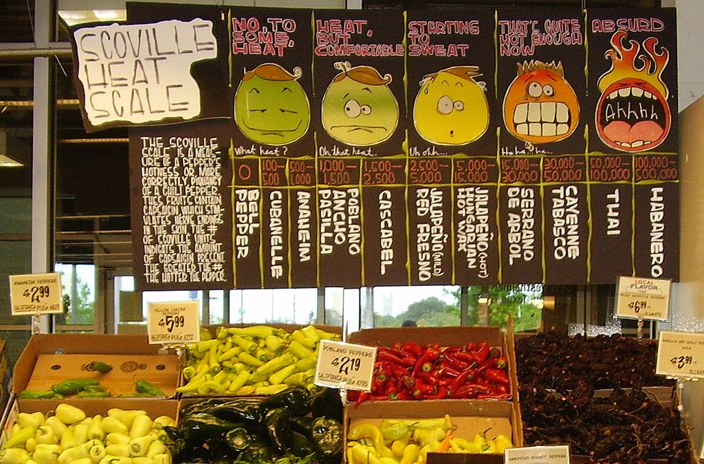 capsaicins and the scoville scale
