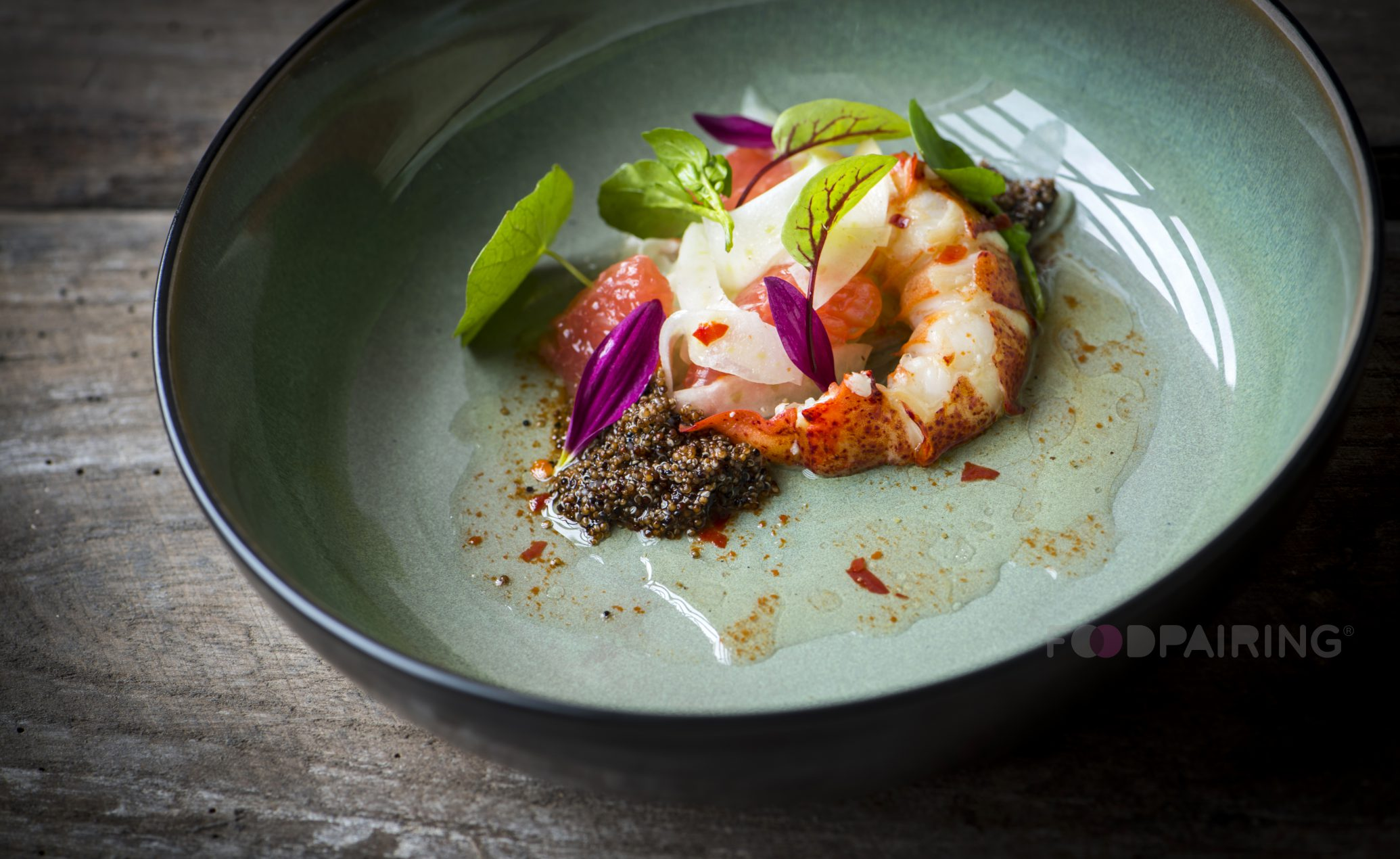 Lobster Salad with Spiced Pink Grapefruit, Peppers, Fennel and Quinoa | Foodpairing / blog