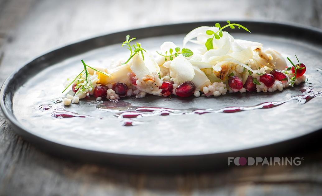 crab pomegranate couscous pairing foodpairing bread pairing