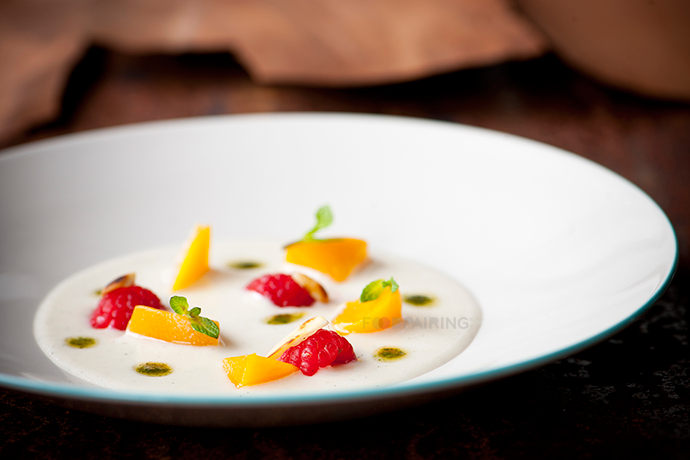 raspberry pairings basil peach almond dessert foodpairing