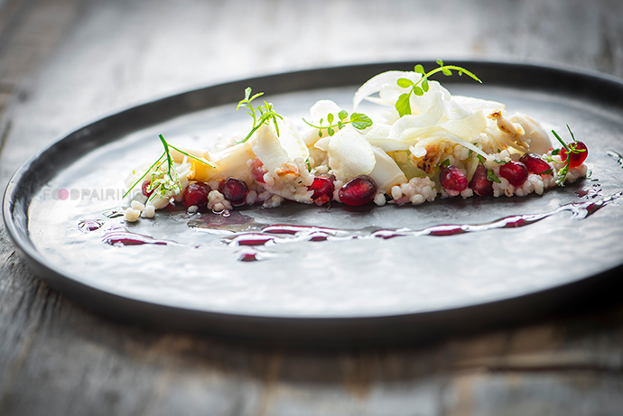 Crab and Couscous Salad with Pomegranate and Fennel