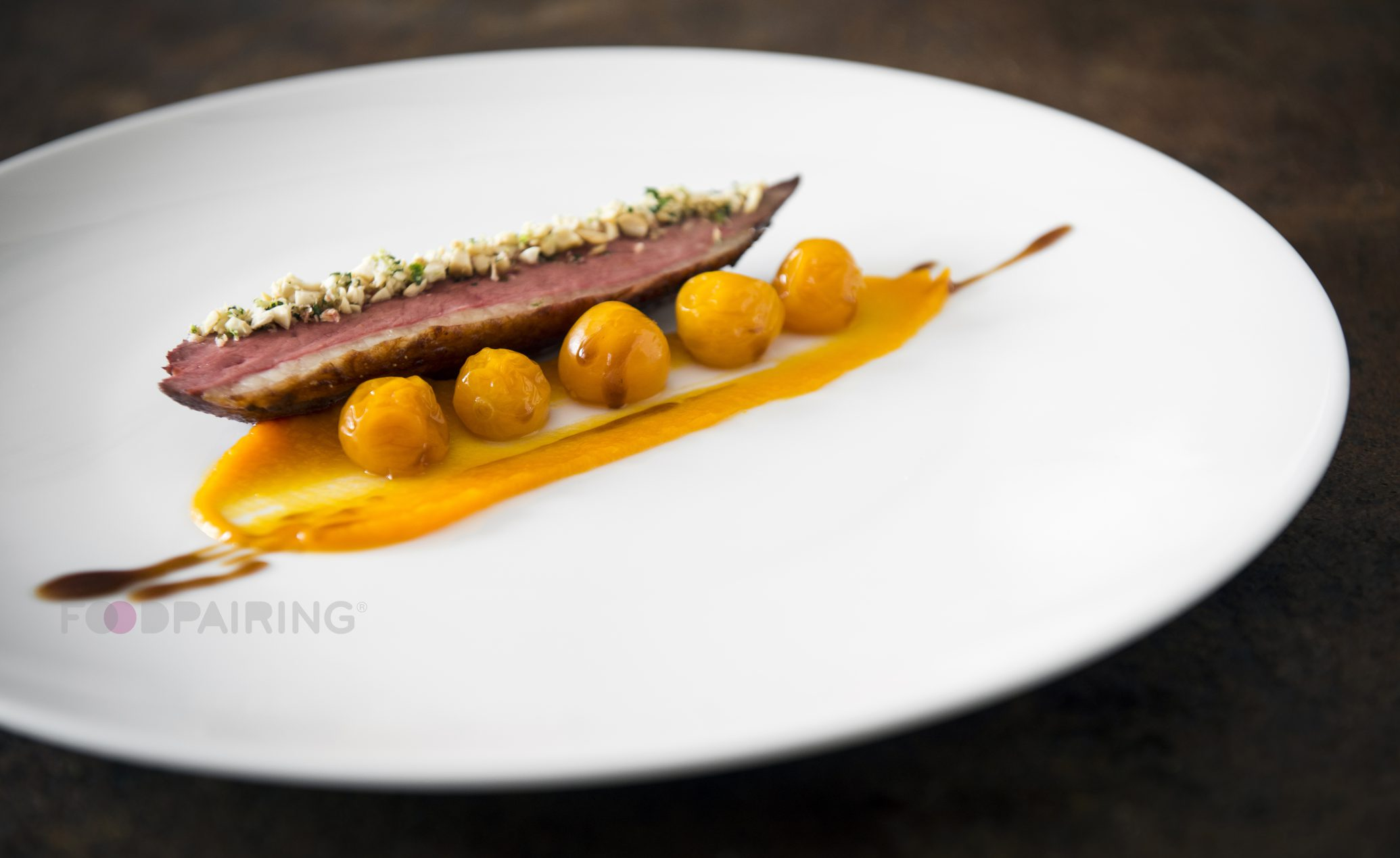 Pumpkin Pairing With Roast Duck Gooseberries Anise And
